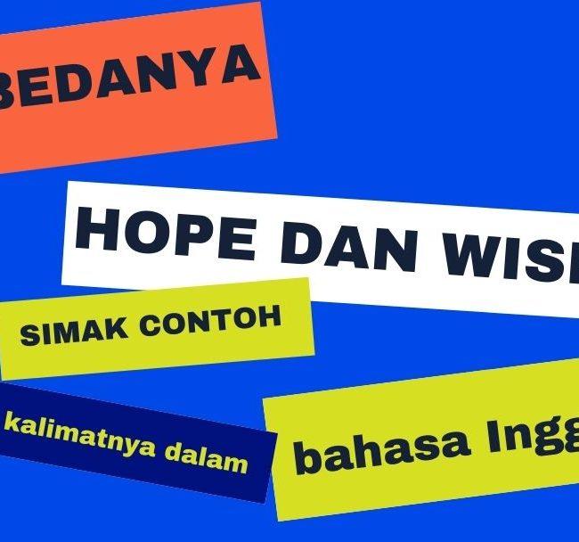 APA BEDANYA HOPE DAN WISH, SIMAK CONTOH KALIMATNYA DALAM BAHASA INGGRIS